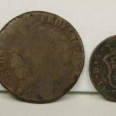 Monedas medievales: MO-187 - COLECCIÓN DE 4 MONEDAS DE BARCELONA EN COBRE.(VER DESCRIP).1809/1814.. Lote 51104579