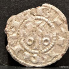 Monedas medievales: OBOLO DE BARCELONA ALFONSO II DE ARAGON EL CASTO (1162-1196) VELLON PLATA RARO. Lote 58539457