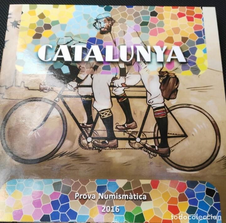 CARTERA DE CATALUÑA 2016 PRUEBAS MONEDAS EUROS 8 PIEZAS (Numismática - Medievales - Cataluña y Aragón)