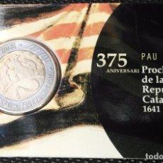 Monedas medievales: PRUEBA MONEDA 2 EUROS CATALUNYA 2016 PAU CLARIS. Lote 66975442