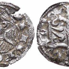 Monedas medievales: *** MUY RARO DINERO DE ALFONSO II EL CASTO 1162-1196 JACA? (II DE ARAGÓN Y I DE BARCELONA) ***. Lote 92823345