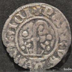 Monedas medievales: DINERO PEDRO DE ARAGÓN - PERE D' URGELL AGRAMUNT (1337-1408) VELLÓN PLATA. Lote 98162039
