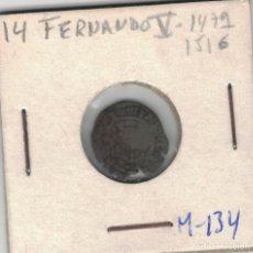 Monedas medievales: FERNANDO V. DINERO DE VALENCIA M137. Lote 99249791