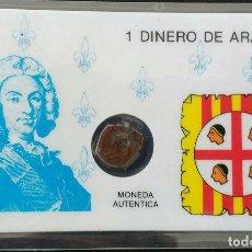 Monedas medievales: FELIPE V DINERO DE ARAGÓN 1710- 1719. Lote 112710079