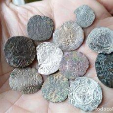 Monedas medievales: LOTE 11 DINEROS DE VELLÓN . Lote 115031243