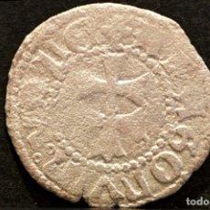 Monedas medievales: DINERO DE ARAGÓN FERNANDO II VELLÓN RARA VARIANTE LEYENDA. Lote 60996266