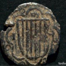 Monedas medievales: MEDIO PIRRAL SICILIA JUAN II DE ARAGÓN (1458 - 1479) JUAN SIN FÉ PLATA ESPAÑA MUY RARO. Lote 84888828