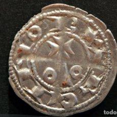 Monedas medievales: EXCELENTE DINERO DE BARCELONA ALFONSO II DE ARAGON EL CASTO (1162-1196) VELLON PLATA. Lote 58239529