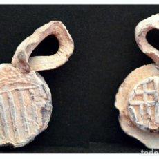 Monedas medievales: PLOMO BARCELONA MODULO REALES PRECINTO DE SACA. Lote 103211967
