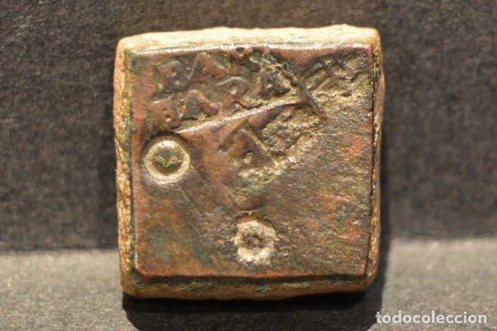 PONDERAL MONETARIO DOS REALES BARCELONA BARBARA (Numismática - Medievales - Cataluña y Aragón)