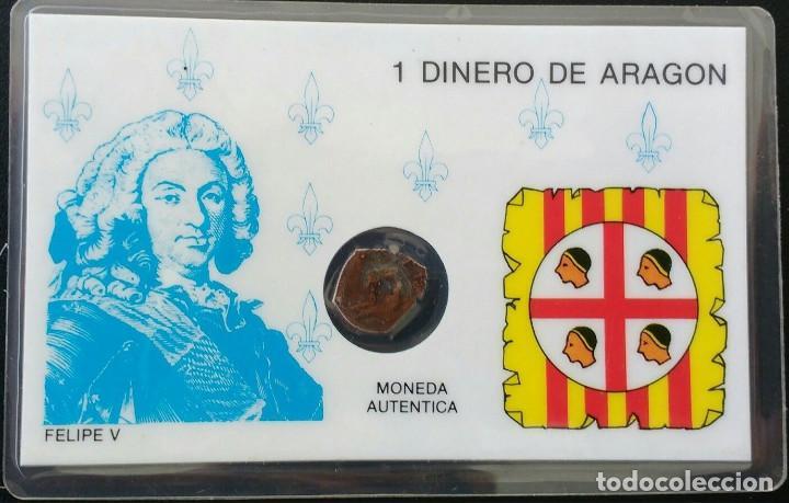 FELIPE V DINERO DE ARAGÓN 1710- 1719 (Numismática - Medievales - Cataluña y Aragón)