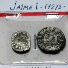 Monedas medievales: JAIME I - OBOLO Y DINERO- BARCELONA. Lote 128420743