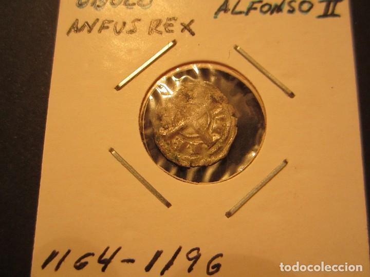 MONEDA DE 1 OBOLO DE ALFONSO II DE ARAGON (1164-1196) RARO ASI (Numismática - Medievales - Cataluña y Aragón)