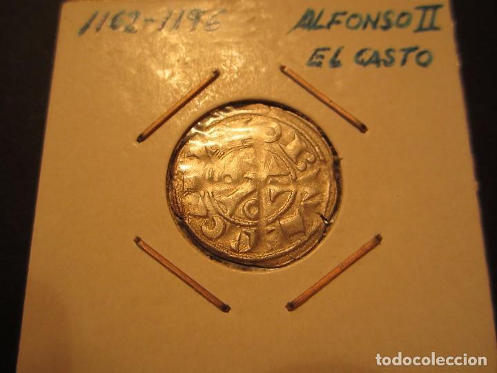 DINERO DE ALFONSO II DE ARAGON (1164-1196) RARO ASI (Numismática - Medievales - Cataluña y Aragón)