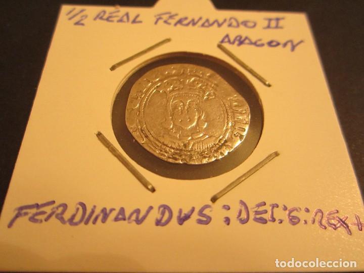 MONEDA DE MEDIO REAL DE FERNANDO II EL CATOLICO (Numismática - Medievales - Cataluña y Aragón)