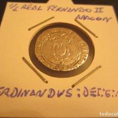 Monedas medievales: MONEDA DE MEDIO REAL DE FERNANDO II EL CATOLICO. Lote 128882471