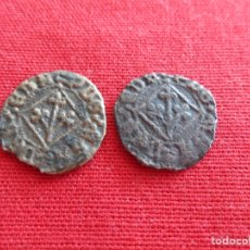Monedas medievales: LOTE DE MONEDAS DE 1/2 PUGESA MONEDA LOCAL LLEIDA.. Lote 133465923