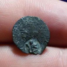 Monedas medievales: DINERO DE VIC. FELIPE II. (RESELLO LEÓN). Lote 134863618