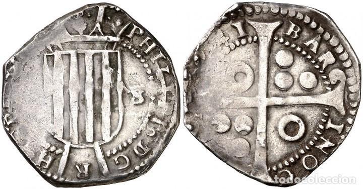1641. GUERRA DELS SEGADORS. BARCELONA. 5 SOUS // FELIPE IV RARISIMA CATALAÑA (Numismática - Medievales - Cataluña y Aragón)
