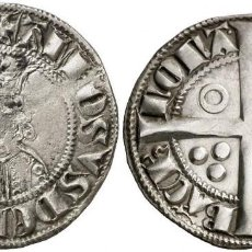 Monedas medievales: CROAT SPAIN ALFONSO II (1285-1291) BARCELONA. VERY SCARCE SILVER PLATA. Lote 136730486