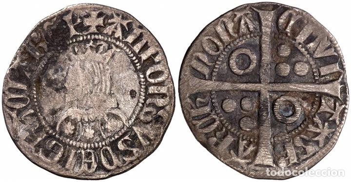 ALFONS III (1327-1336). BARCELONA. CROAT. (CRU.V.S. 366) (CRU.C.G. 2184B).PLATA CATALÁN (Numismática - Medievales - Cataluña y Aragón)