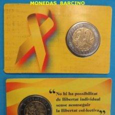 Monedas medievales: 2018 MONEDA DE 2 EUROS CATALUNYA CATALUÑA PRUEBAS NUMISMATICAS - FRANCESC MACIA - NO OFICIAL. Lote 143579706