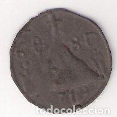 Monedas medievales: PELLOFA DE 6 SOU DE OLOT DE 1719 INCUSA DE LLAUNA (LATA). CATÁLOGO CRUSAFONT-1909. MBC- (MC9). Lote 144007882