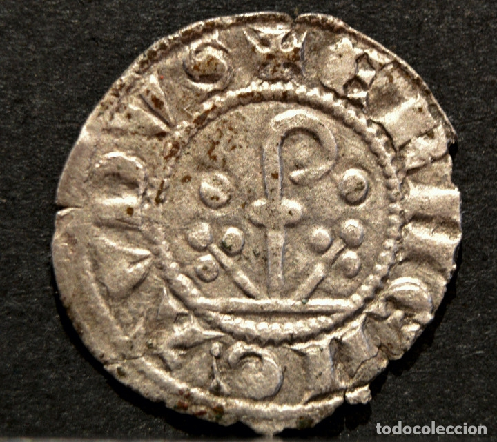 DINER ERMENGOL X DINERO VELLON (1267-1314) URGELL AGRAMUNT (Numismática - Medievales - Cataluña y Aragón)