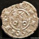 Monedas medievales: OBOLO DE BARCELONA ALFONSO II DE ARAGON EL CASTO (1162-1196) VELLON PLATA RARO. Lote 106707046