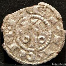 Mittelalterliche Münzen - OBOLO DE BARCELONA ALFONSO II DE ARAGON EL CASTO (1162-1196) VELLON PLATA RARO - 106707046