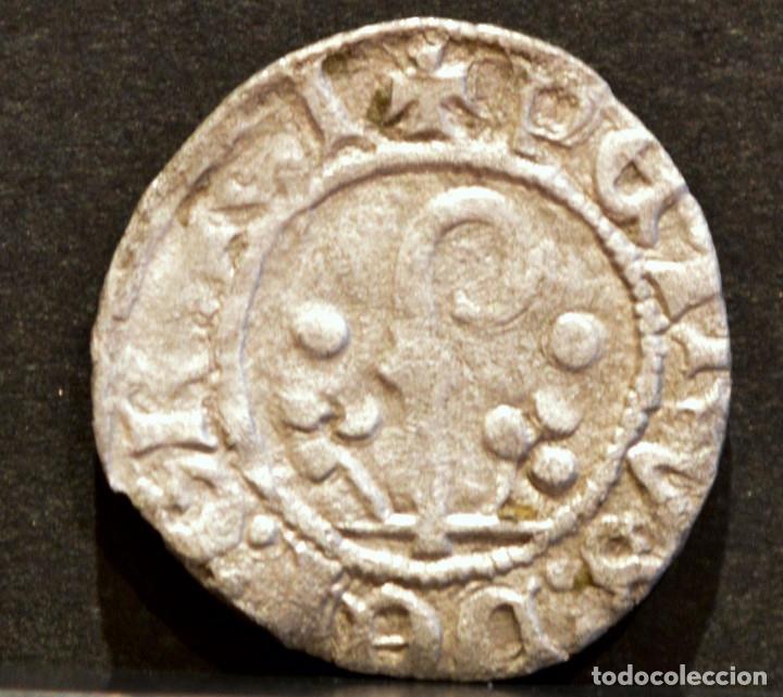DINERO PEDRO DE ARAGÓN - PERE D' URGELL AGRAMUNT (1337-1408) VELLÓN PLATA (Numismática - Medievales - Cataluña y Aragón)