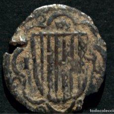 Mittelalterliche Münzen - MEDIO PIRRAL SICILIA JUAN II DE ARAGÓN (1458 - 1479) JUAN SIN FÉ PLATA ESPAÑA MUY RARO - 84888828