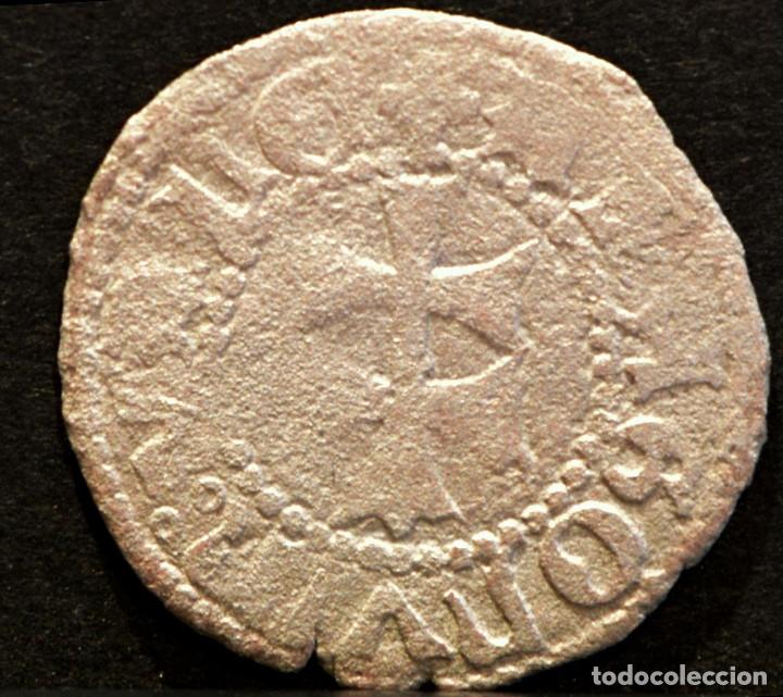 DINERO DE ARAGÓN FERNANDO II VELLÓN RARA VARIANTE LEYENDA (Numismática - Medievales - Cataluña y Aragón)