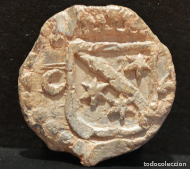 PLOMO PRECINTO ARAGON HERALDICA (Numismática - Medievales - Cataluña y Aragón)