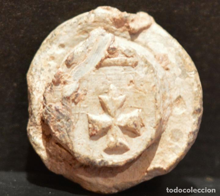 Monedas medievales: PLOMO PRECINTO ARAGON HERALDICA - Foto 3 - 103212339
