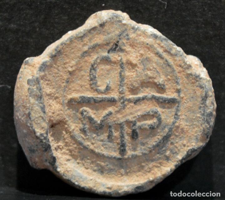 Monedas medievales: ANTIGUO PLOMO PRECINTO DE SACA CAMP - Foto 3 - 118849043