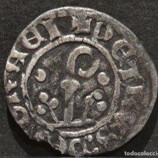 Monedas medievales: DINERO PEDRO DE ARAGÓN URGELL AGRAMUNT (1337-1408) VELLÓN PLATA. Lote 151852738