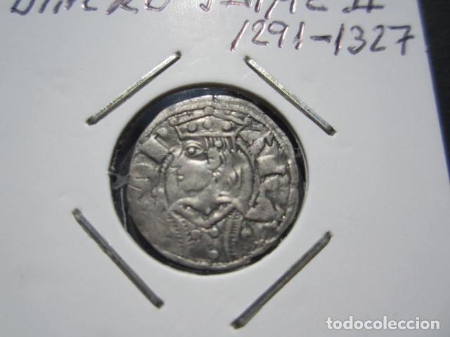MONEDA DE 1 DINERO DE JAIME II (1291-1327) EXTRAORINARIO (Numismática - Medievales - Cataluña y Aragón)