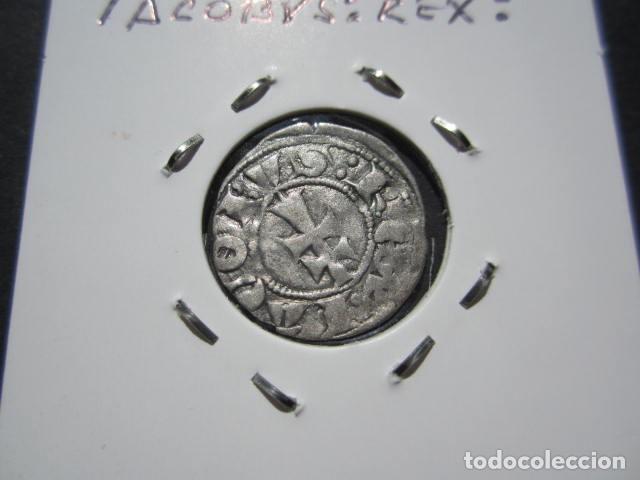 Monedas medievales: moneda de 1 dinero de jAIME II (1291-1327) extraorinario - Foto 2 - 166042802