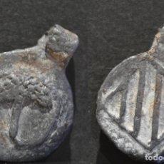 Monedas medievales: PLOMO PRECINTO ALCARRAS LLEIDA. Lote 172019108