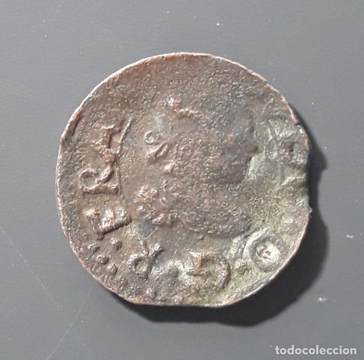 Monedas medievales: RARÍSIMO DINERO DE VIC 1645 CON LA N AL REVÉS - Foto 2 - 178332102