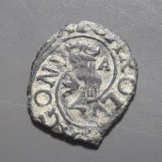 Monedas medievales: DINERO ZARAGOZA - CARLOS II - ERROR DOBLE ACUÑACIÓN. Lote 180270651