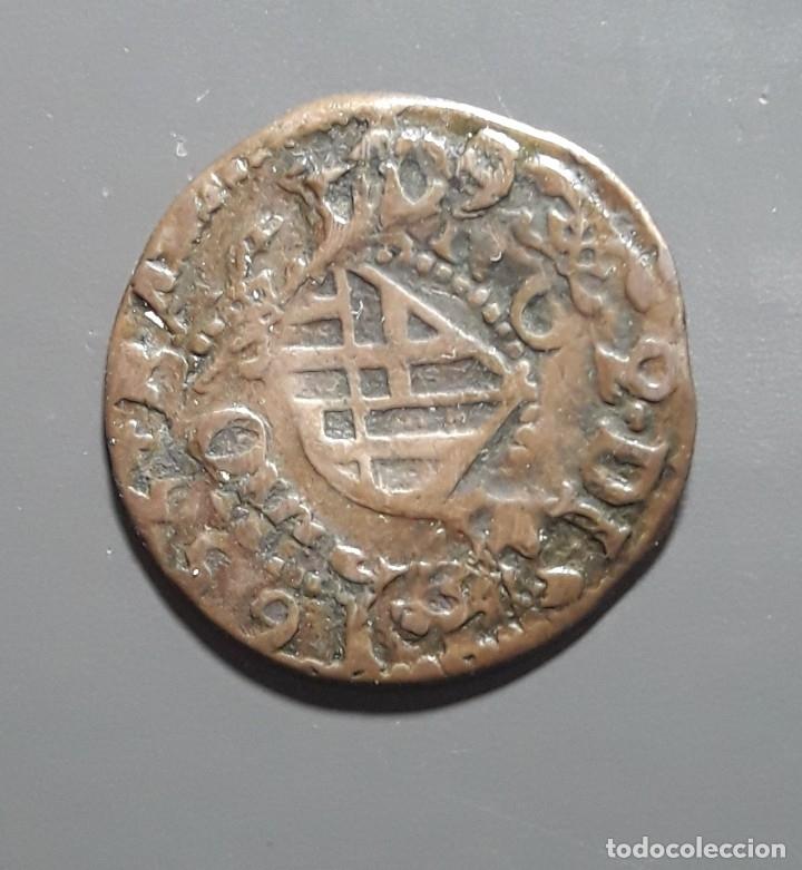 1 ARDITE BARCELONA 1709 SOBRE ARDITE 1655 (Numismática - Medievales - Cataluña y Aragón)