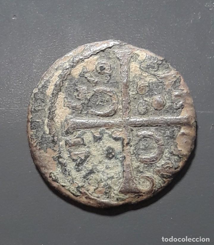 DINERO BARCELONA 1619 - ÉPOCA FELIPE III (Numismática - Medievales - Cataluña y Aragón)