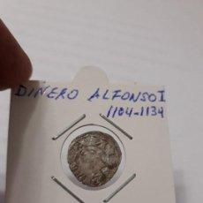 Monedas medievales: MONEDA DE 1 DINERO DE ALFONSO I EL BATALLADOR (1104-1134). Lote 183629848