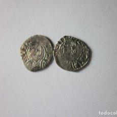 Monedas medievales: 2 DINEROS DE ARAGÓN. JAIME II Y PEDRO IV. BONITOS.. Lote 183775748