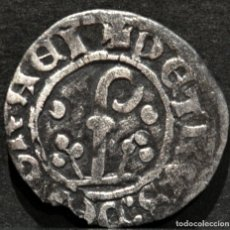 Monedas medievales: DINERO PEDRO DE ARAGÓN PER D`URGELL AGRAMUNT (1337-1408) VELLÓN PLATA. Lote 151852738