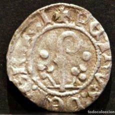 Monedas medievales: DINERO PEDRO DE ARAGÓN - PERE D' URGELL AGRAMUNT (1337-1408) VELLÓN PLATA. Lote 58469203