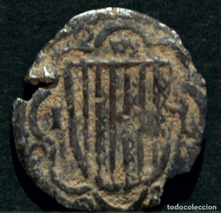 Monedas medievales: MEDIO PIRRAL SICILIA JUAN II DE ARAGÓN (1458 - 1479) JUAN SIN FÉ PLATA ESPAÑA MUY RARO - Foto 2 - 84888828