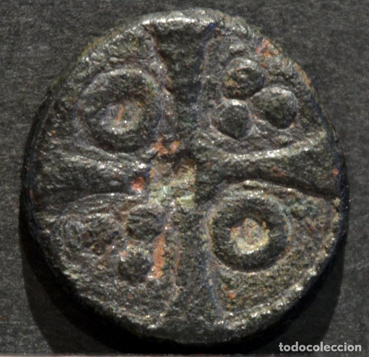 PONDERAL MONETARIO FERNANDO II (1157-1188) PESAL DE CROAT BARCELONA (Numismática - Medievales - Cataluña y Aragón)